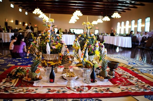 Set Up For Baci Ceremony At Reception Area Wedding Ideas