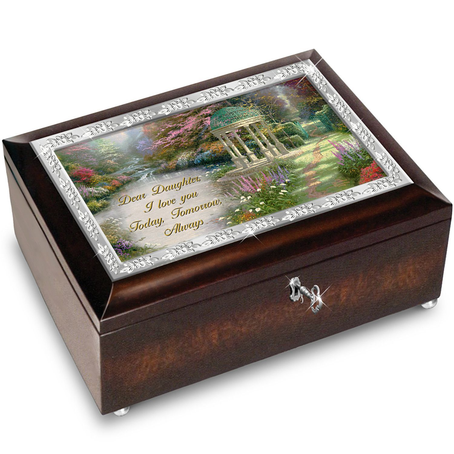 Thomas Kinkade My Daughter, I Will Love You Always Music Box With ...