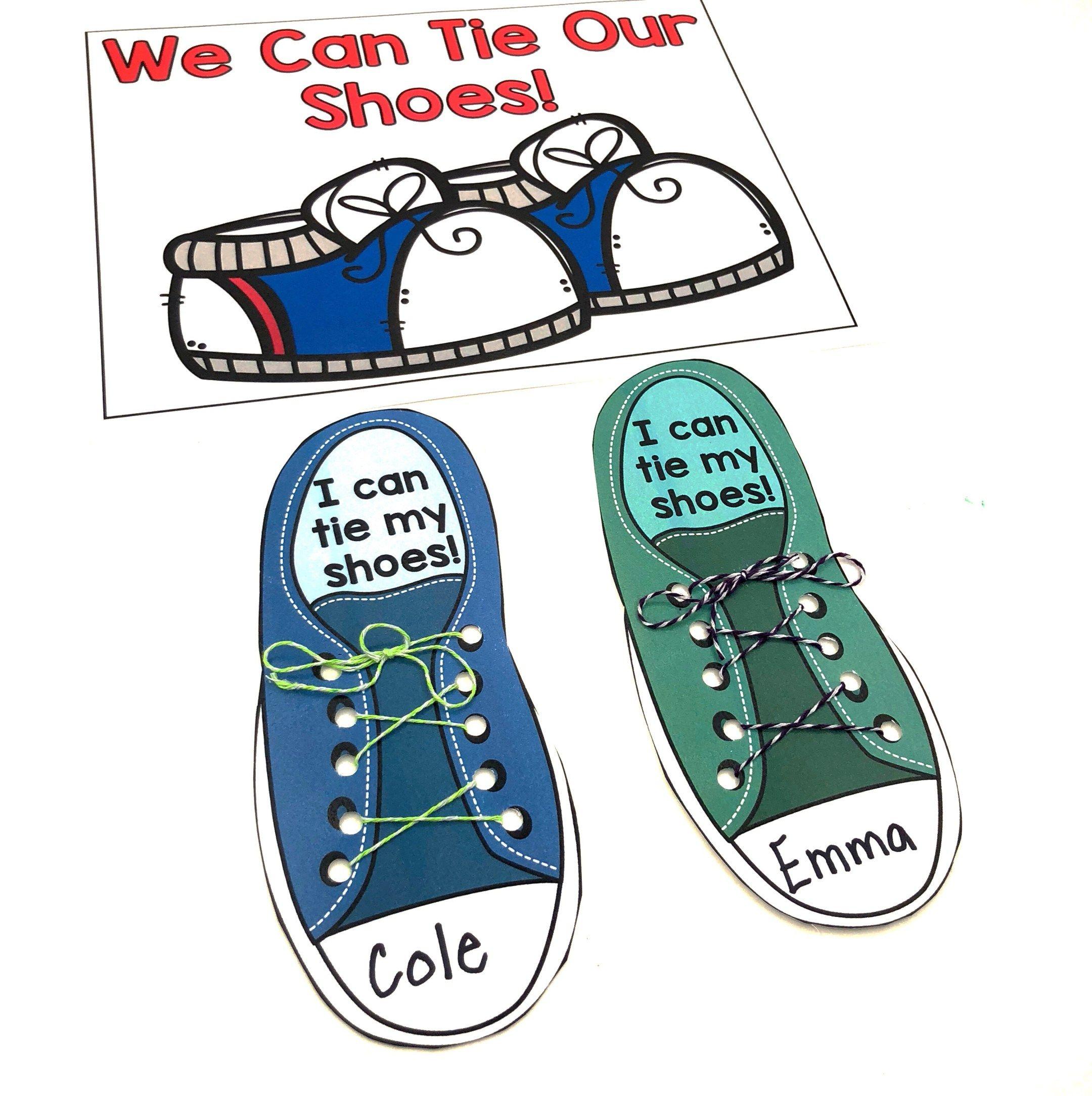 Shoe Tying Template Classroom