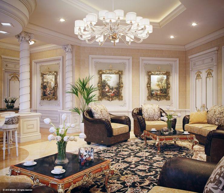 Villa de luxe au design d\'intérieur oriental au Qatar ...