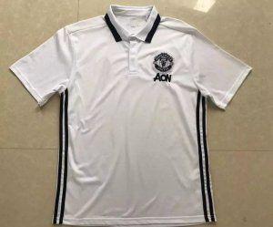 6862e7782 Manchester United 17-18 Season White Man Utd Polo Shirt  J676 ...