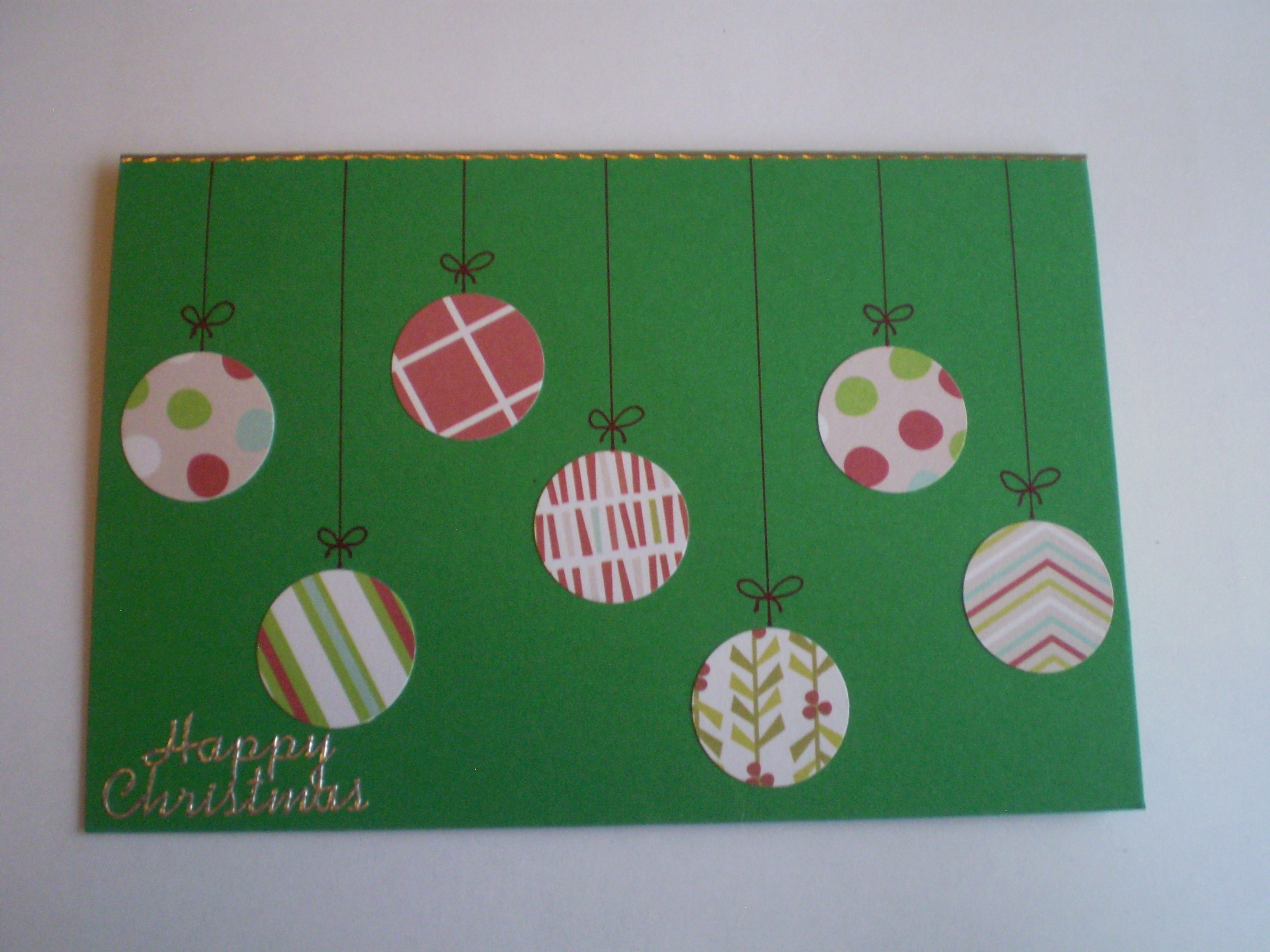 Diy christmas card designs green line of baubles on string cut diy christmas card designs green line of baubles on string cut using solutioingenieria Images