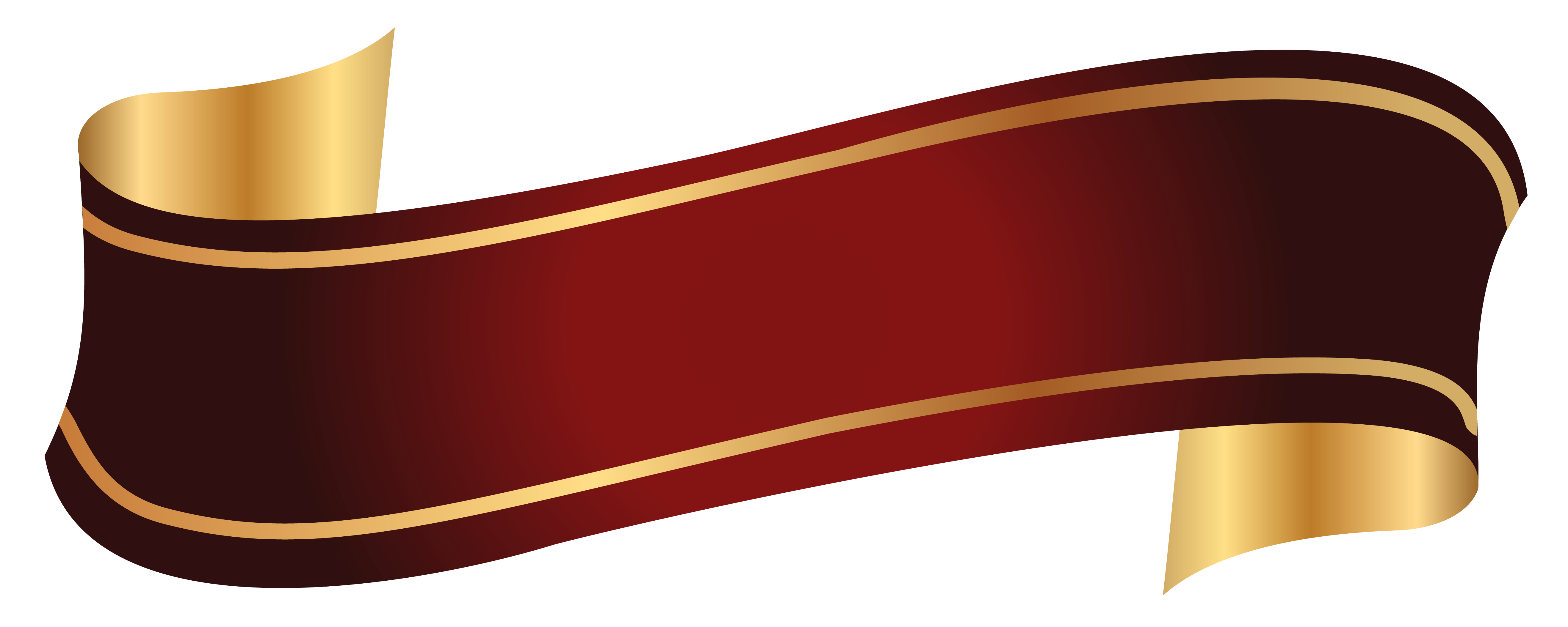 Red And Gold Banner PNG Clipart Image Pinterest