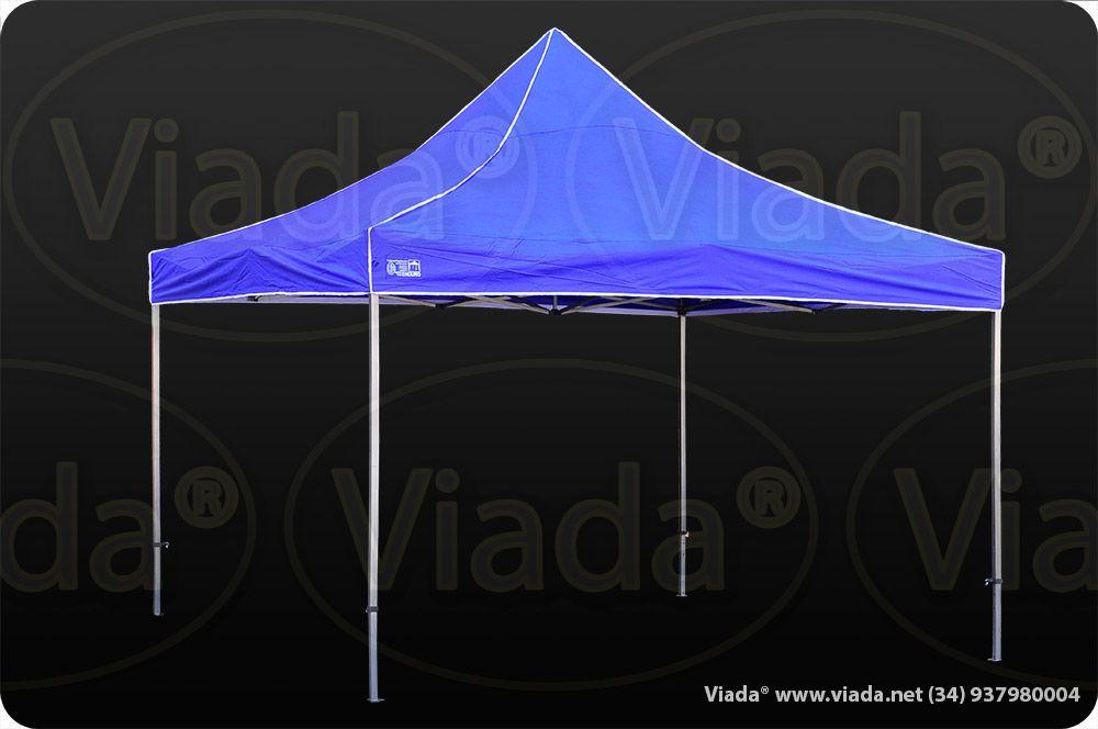 Carpa plegable de 4x4 de color azul #carpa #carpaplegable #carpaplegablebarata http://viada.net/tienda/