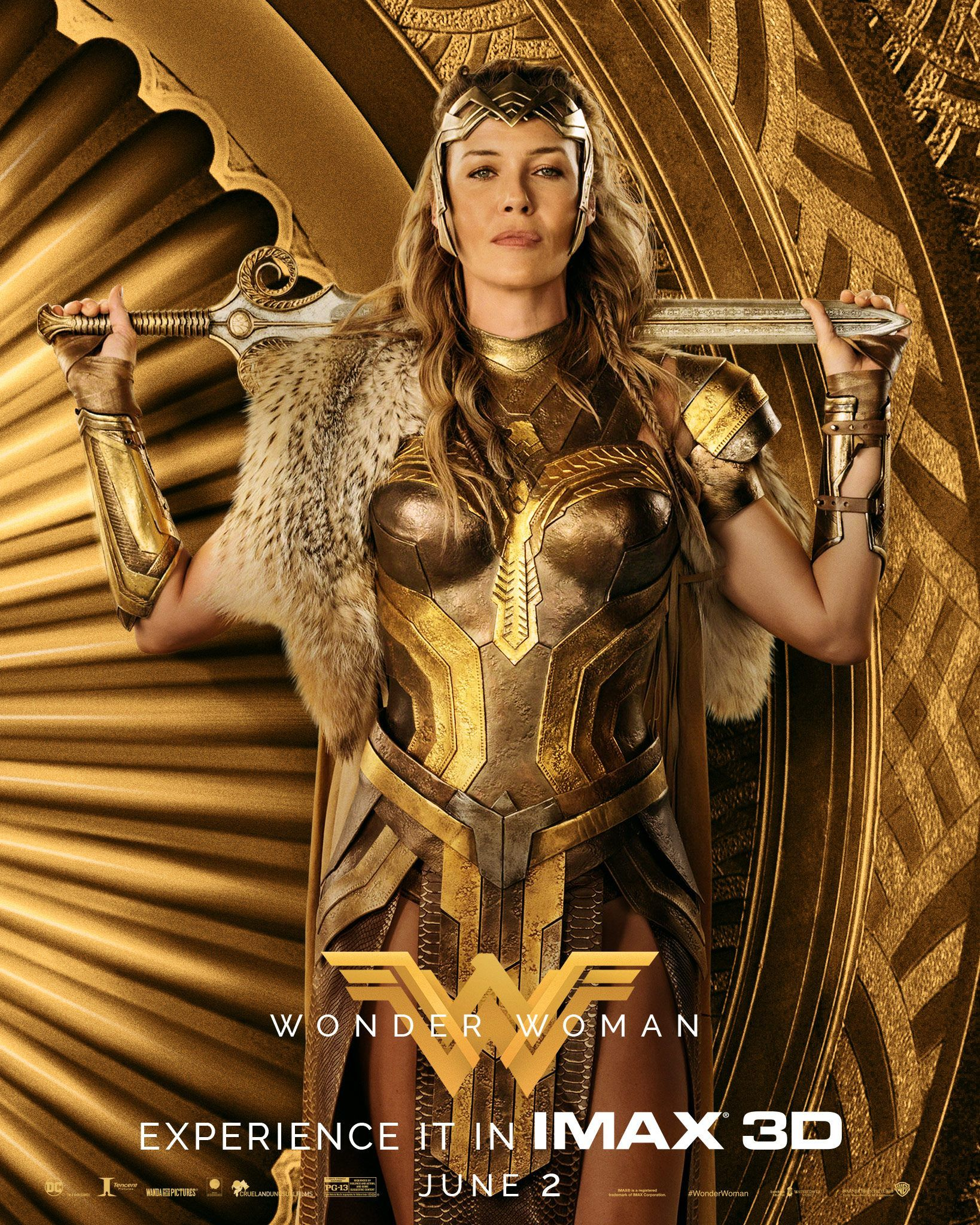 Wonder Woman Starring Connie Nielsen As Queen Hippolyta In Theaters June 2 In Imax 3d Wonder Woman Movie Amazons Wonder Woman Wonder Woman 2017 Poster