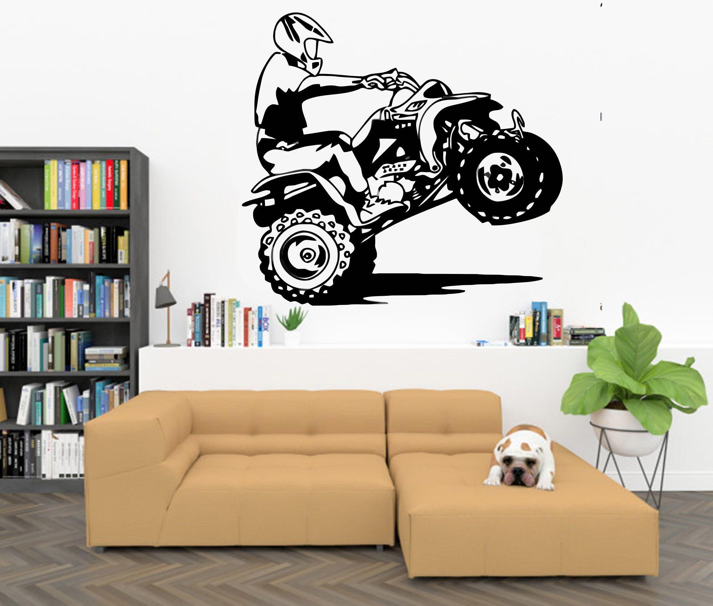 Motorcross wall decor Free Style Bedroom Stickers Art