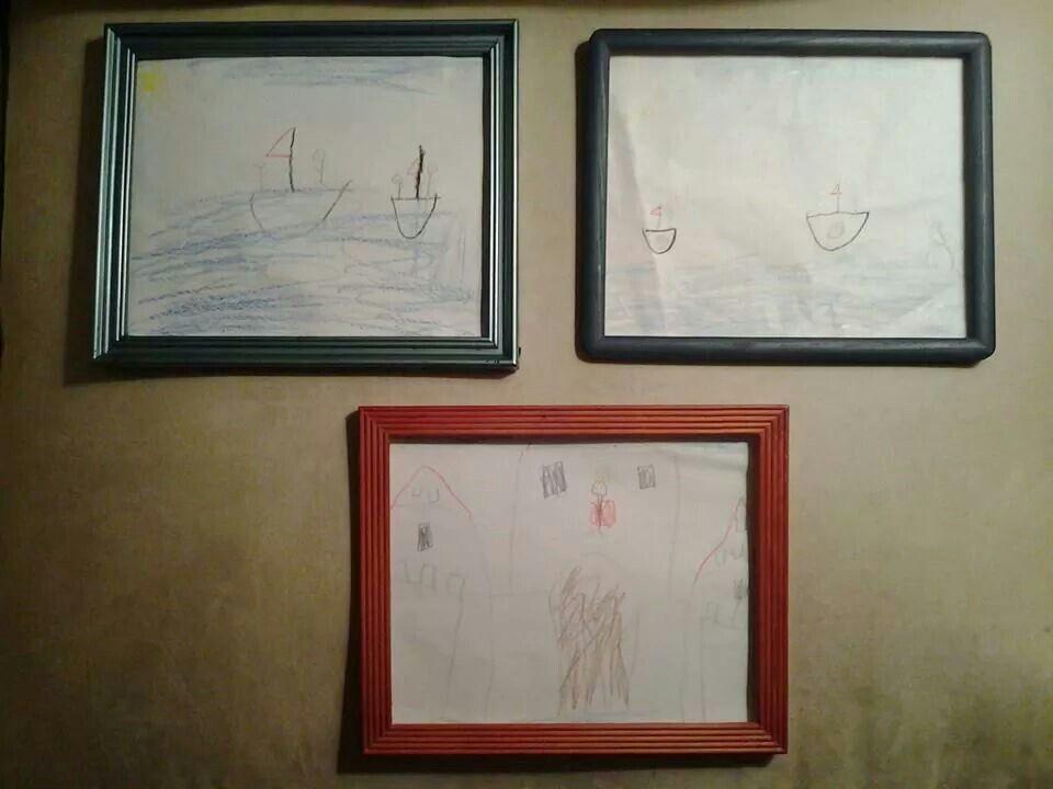 Framed my sons art work