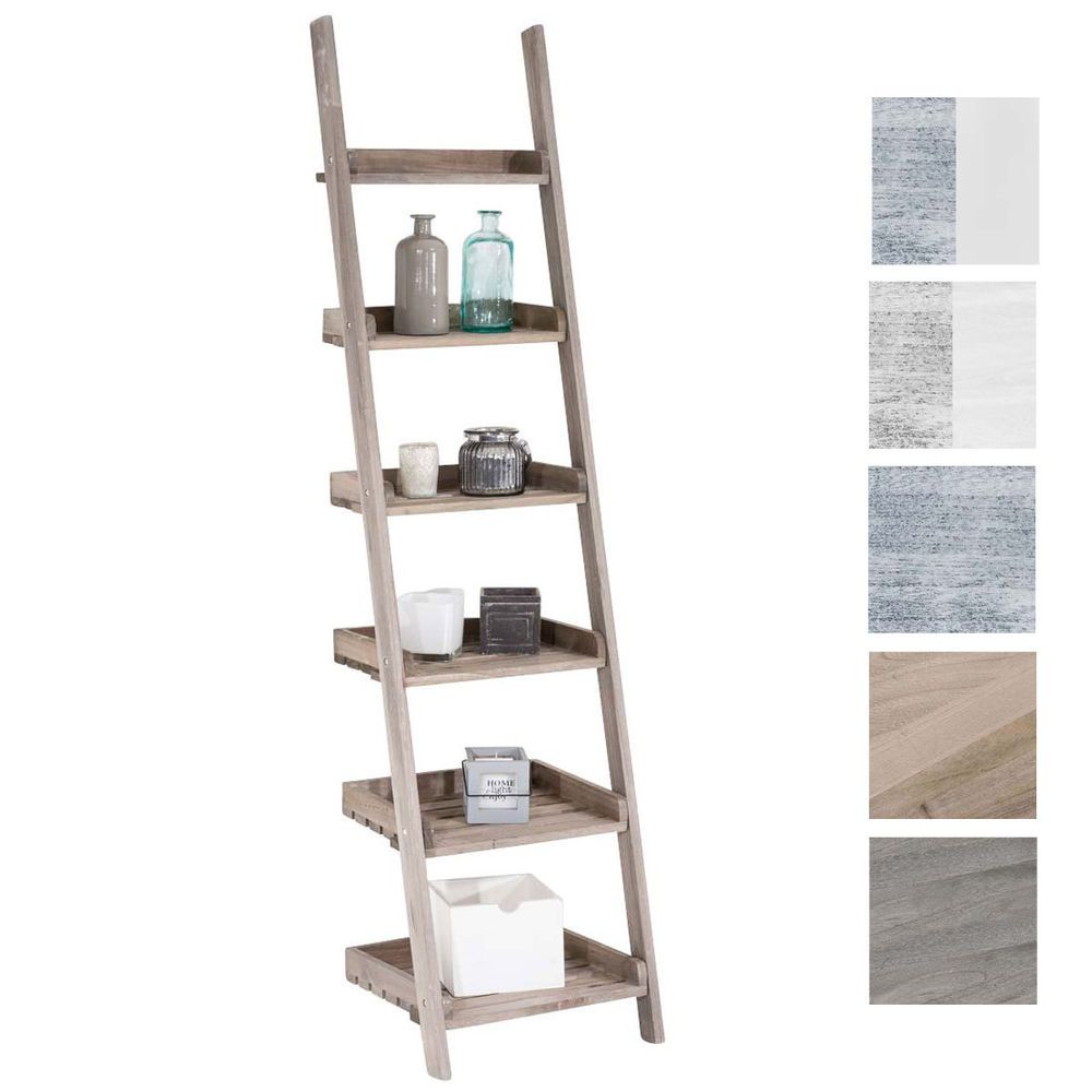 Scala Di Legno Decorativa ladder shelf yasmin wooden shabby chic displaying shelves