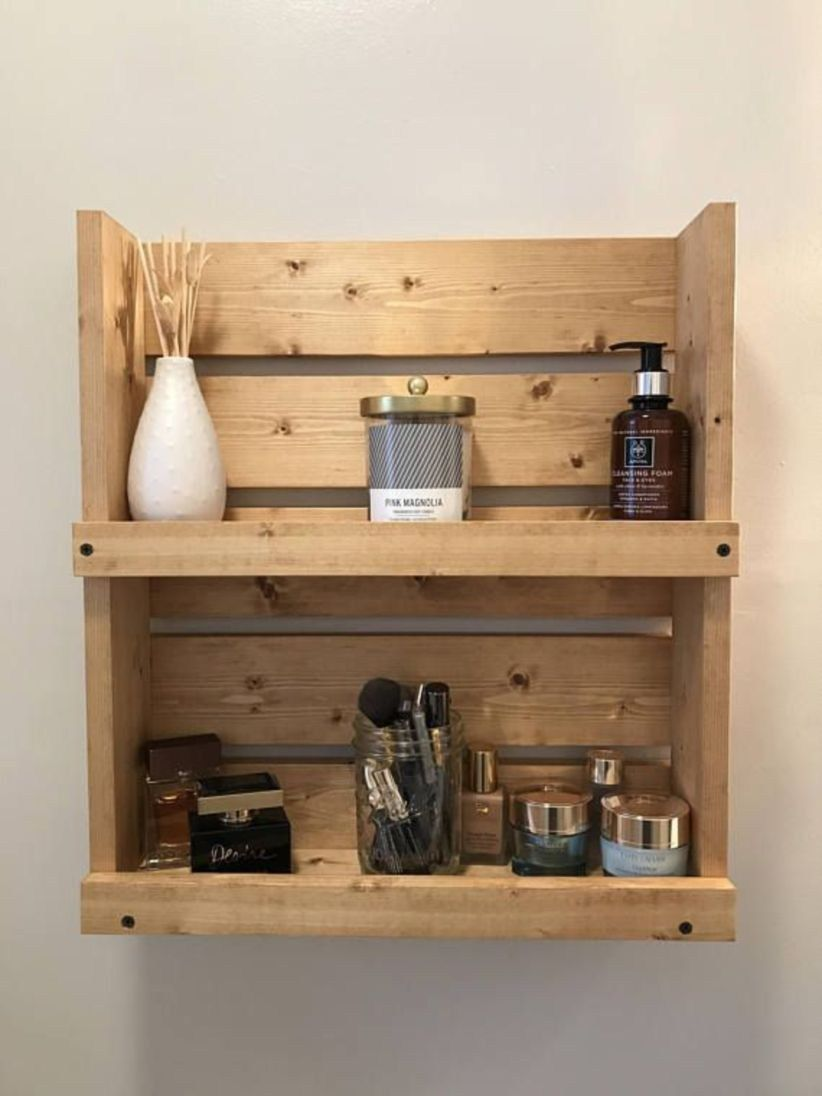 43 Creative Diy Wall Hanging Storage Ideas For Bathroom Bathroom Wall Storage Wall Mounted Bathroom Cabinets Rustic Bathroom Shelves