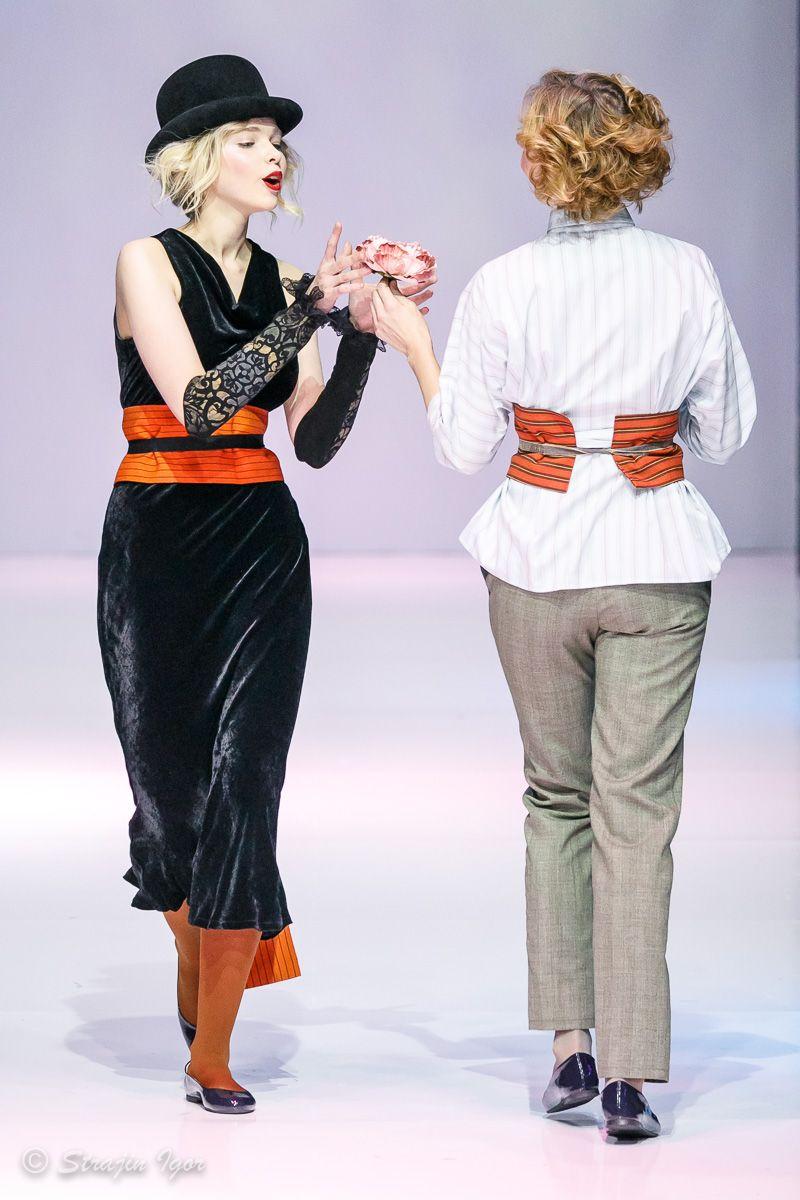 Модный показ коллекции одежды Елены Теплицкой на Неделе Моды в Москве. На  подиуме - Правильные 1be8f4fb997