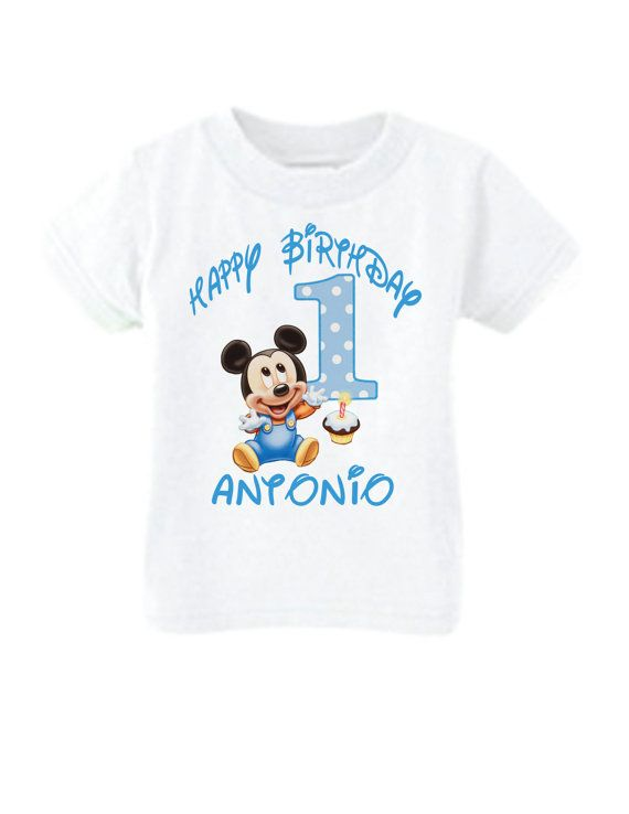 Mickey 1st Birthday Shirt Mickey Mouse 1st By Littlepersonaltouch