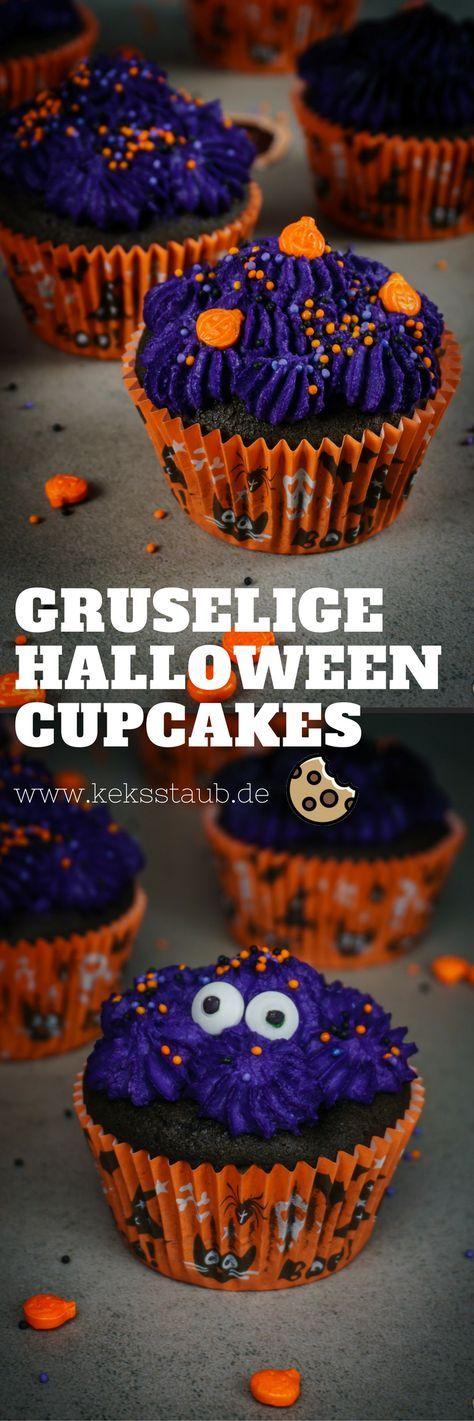 {Halloween} Düstere Frischkäse Kirsch Cupcakes Nachtisch