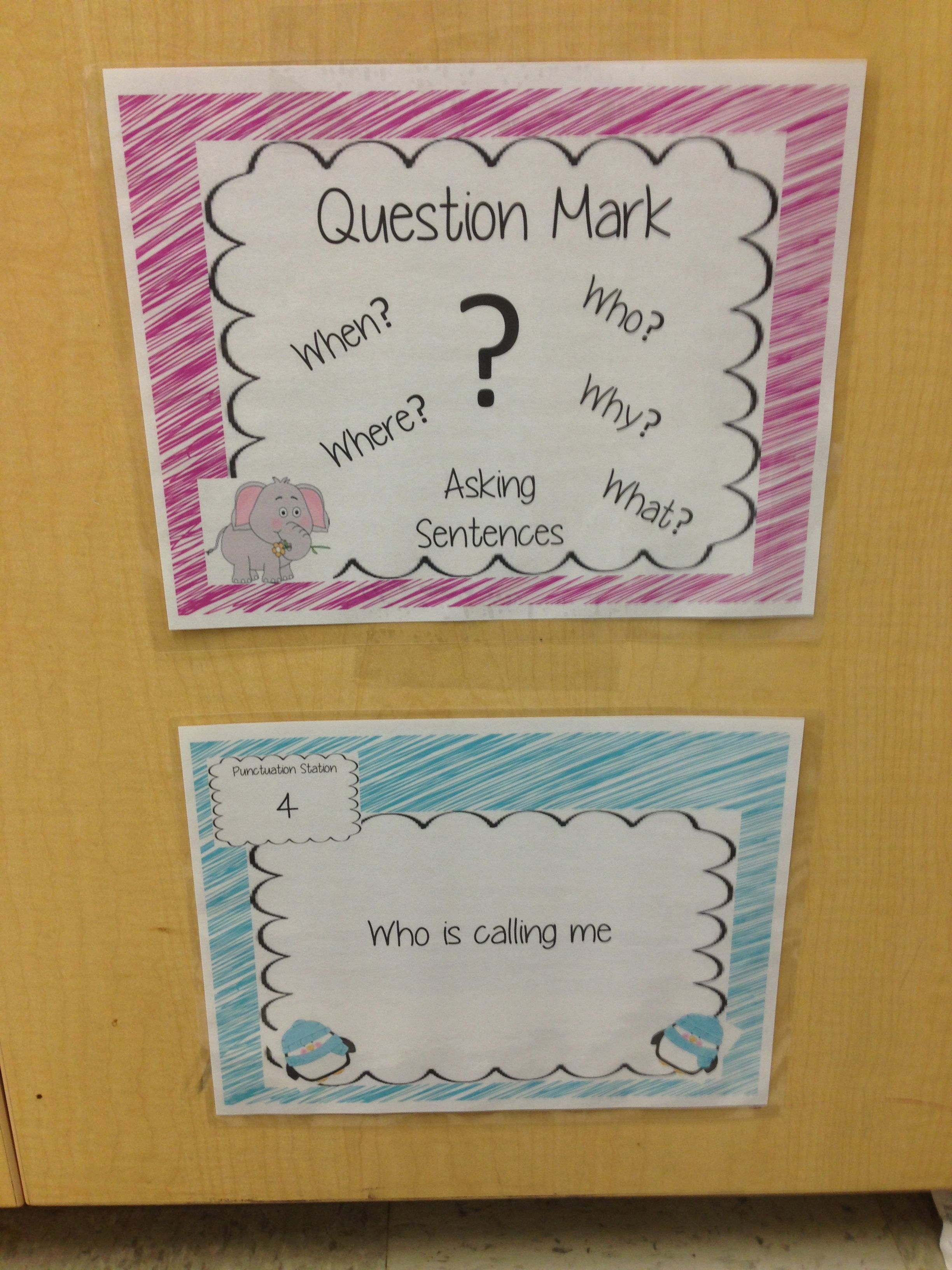Punctuation Anchor Charts And Write The Room Activity