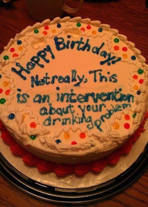 Funny Birthday Cake Intervention Food Funny Birthday Cakes