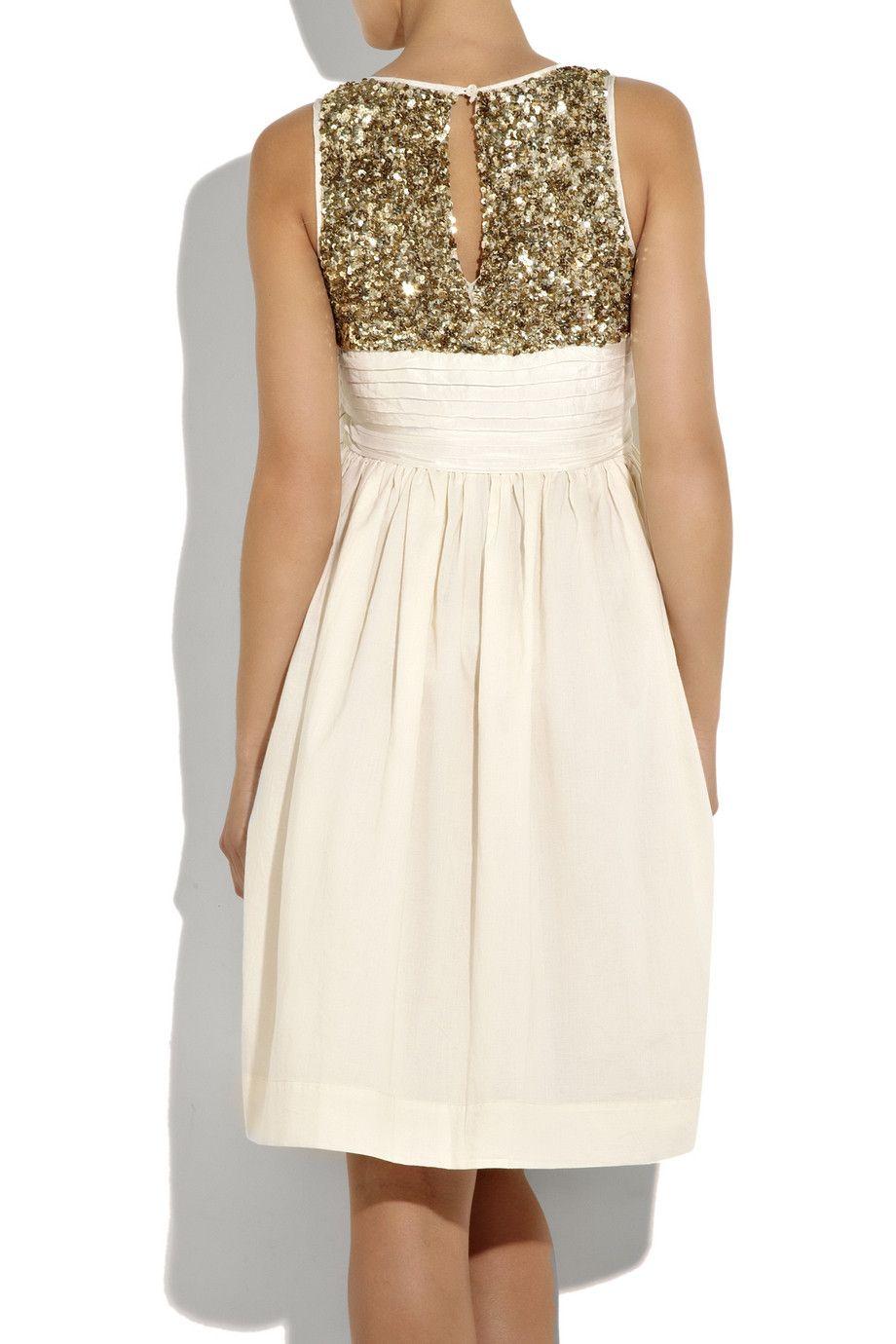 DAY Birger et Mikkelsen - Sequin and cotton sleeveless dress $280 #sparkly #sequin #dress