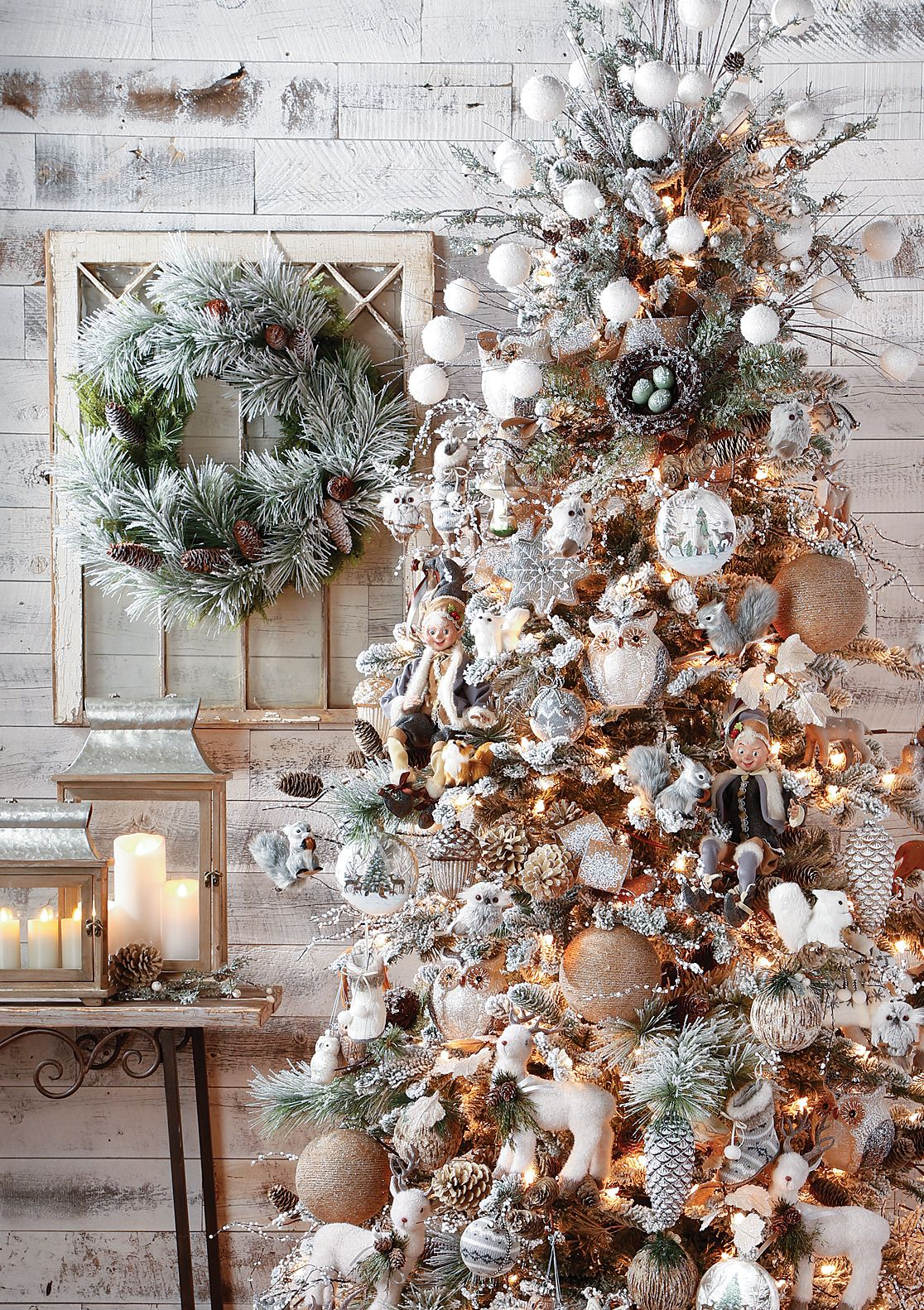 Whimsical Woodlands Christmas Tree By Raz Imports Rose