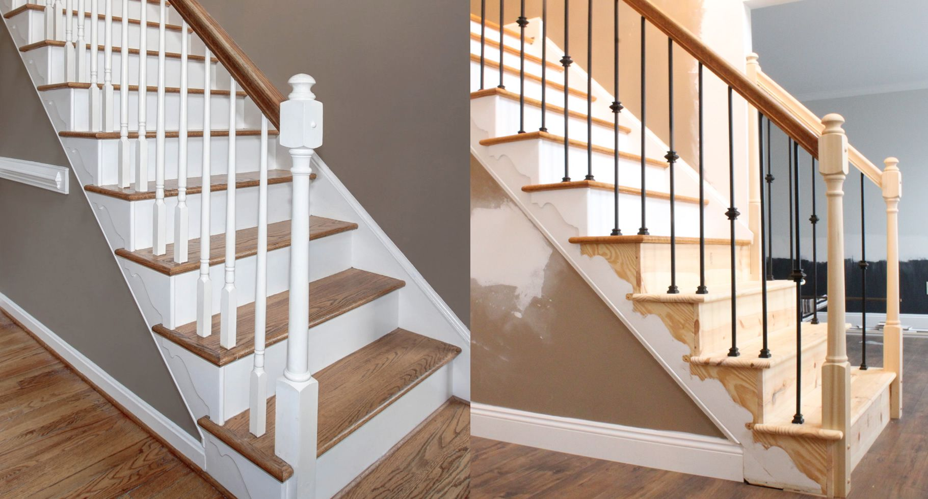 Best Changing Wood Stair Balusters To Iron 8 Steps With Video Stair Balusters Stair Railing 400 x 300