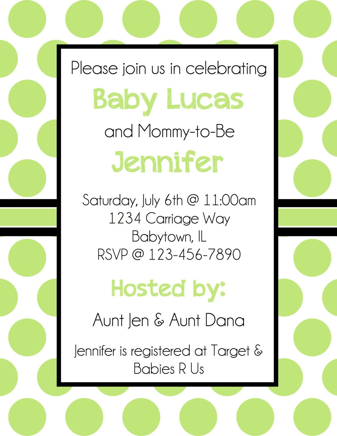 Yellow And Green Baby Shower Invitations Choice Image