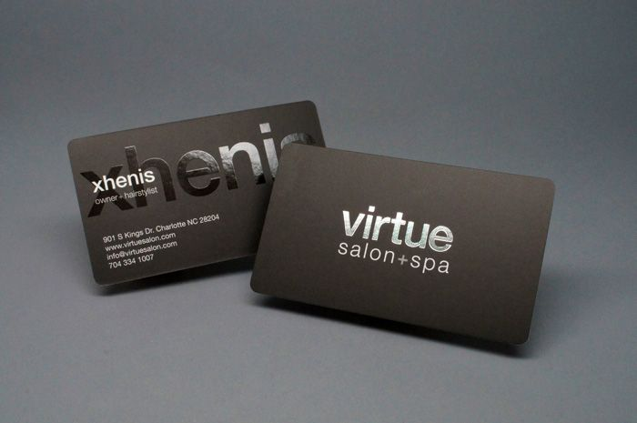 Silk Laminated Business Card With Spot Uv Silver Foil And 18 Inch