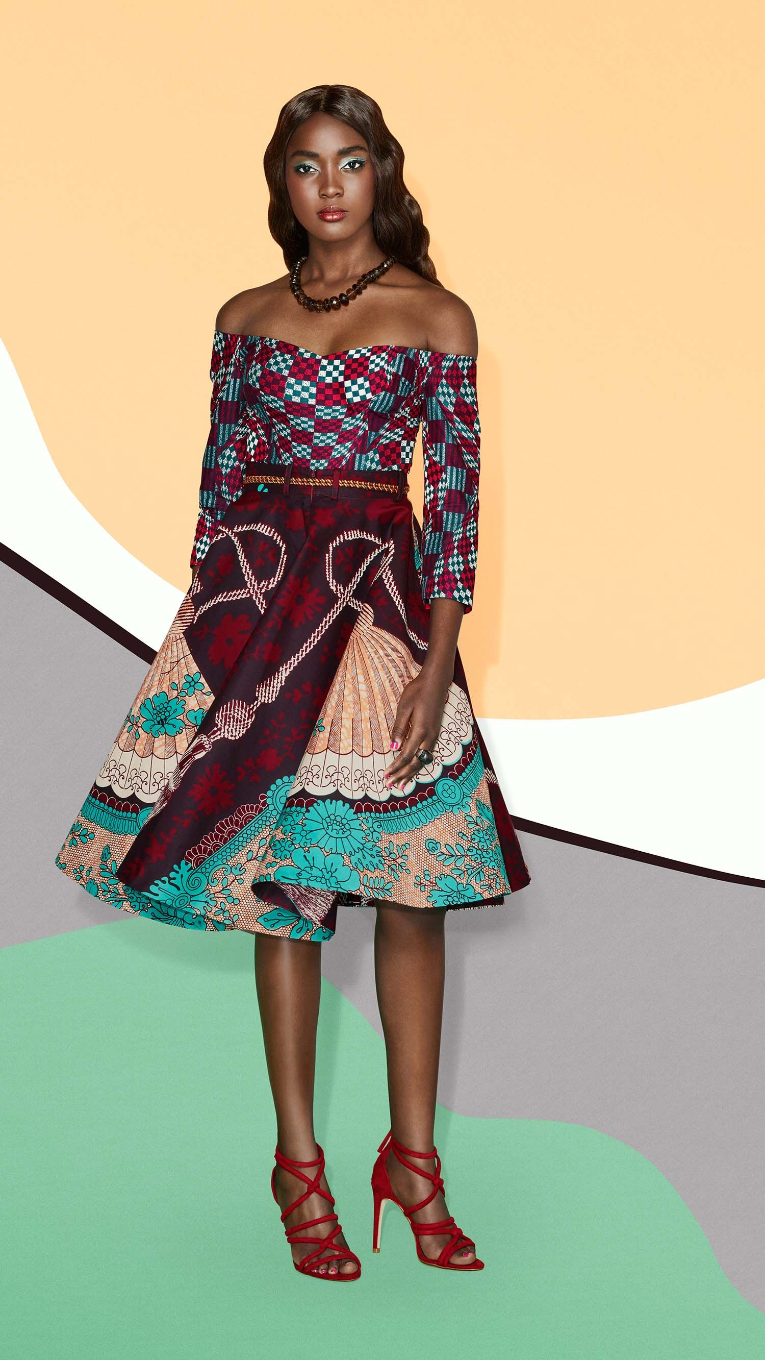 Vlisco useeu swirling magic coctail dress short dress