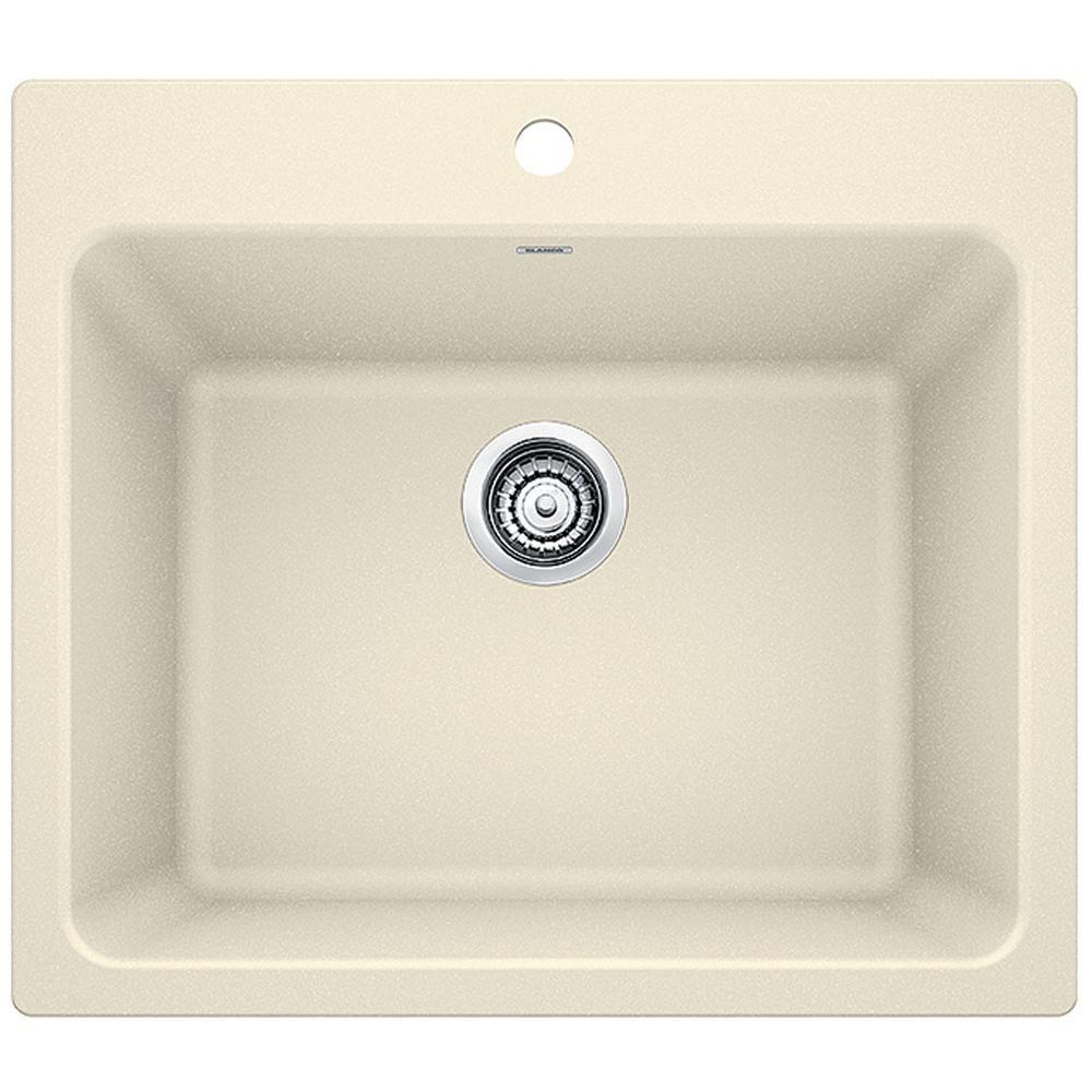Blanco Liven 25 In X 22 In X 12 In Granite Undermount Laundry