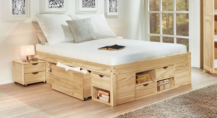 Pin Auf Bed With Drawers
