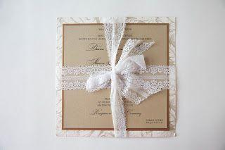 Kindly R.S.V.P. Designs Blog: Lace Ribbon Wedding Invitation • Lace Wedding Invitation
