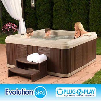 Evolution Spas Safari 24 Jet 6 Person Spa Spa Hot Tubs Spa Hot Tub Designs