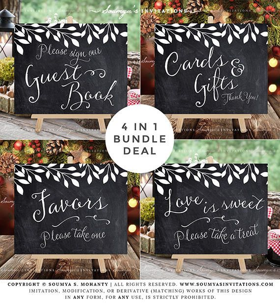 Rustic Wedding Signs Decor Calligraphy Faux Chalkboard Etsy In 2020 Wedding Sign Decor Wedding Chalkboard Signs Wedding Guest Book Table