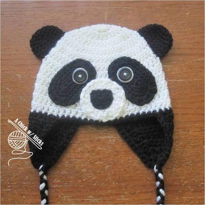 New Pattern Panda Hat A Chick W Sticks Crochet Ideas