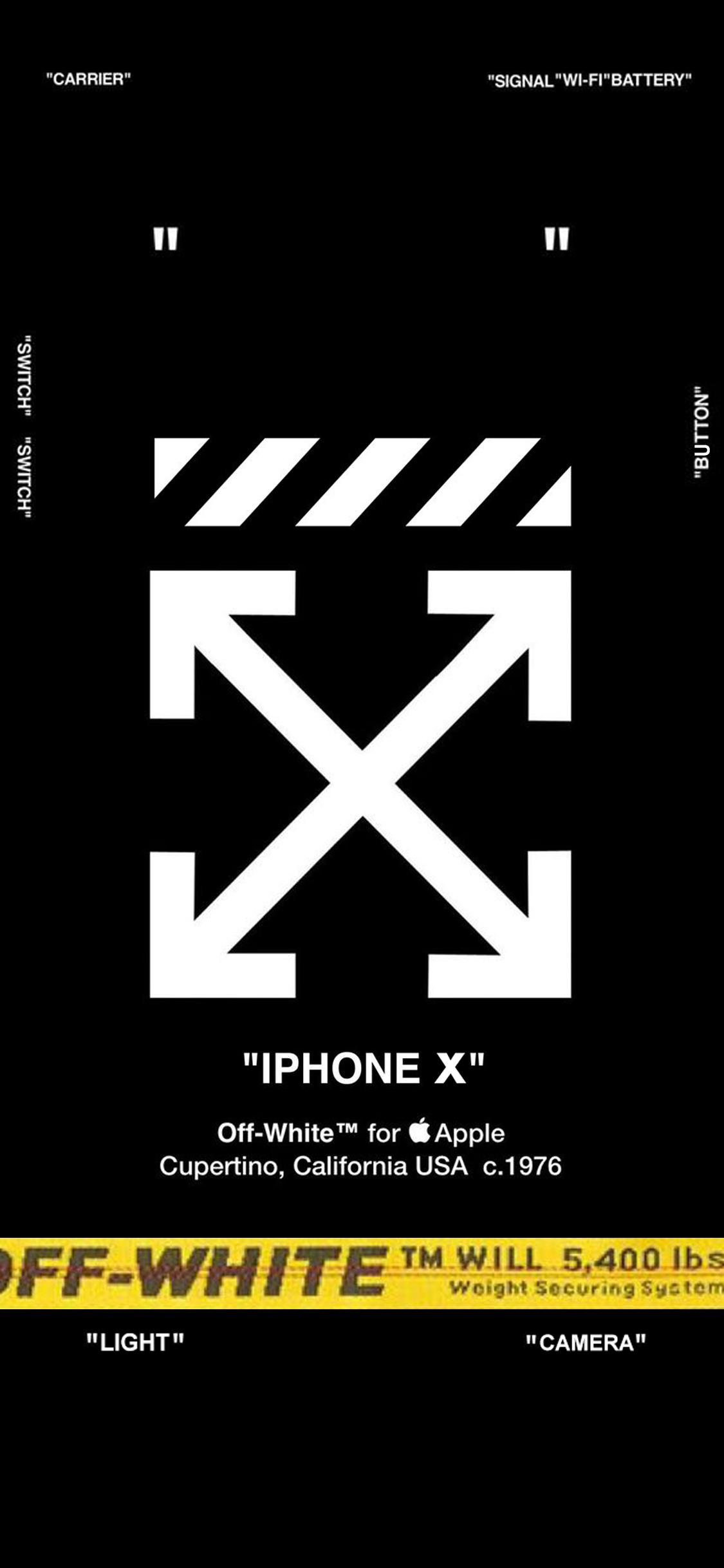OFF WHITE LOCK SCREEN for iPhone X アップルの壁紙, Iphone 用壁紙