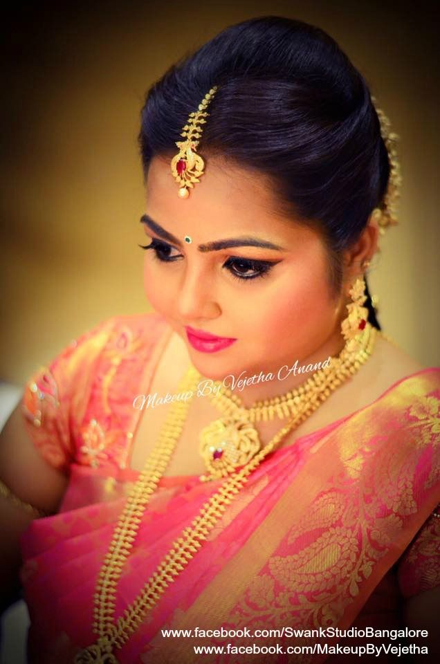 Ramya looks gorgeous for her engagement ceremony. Makeup and ...
