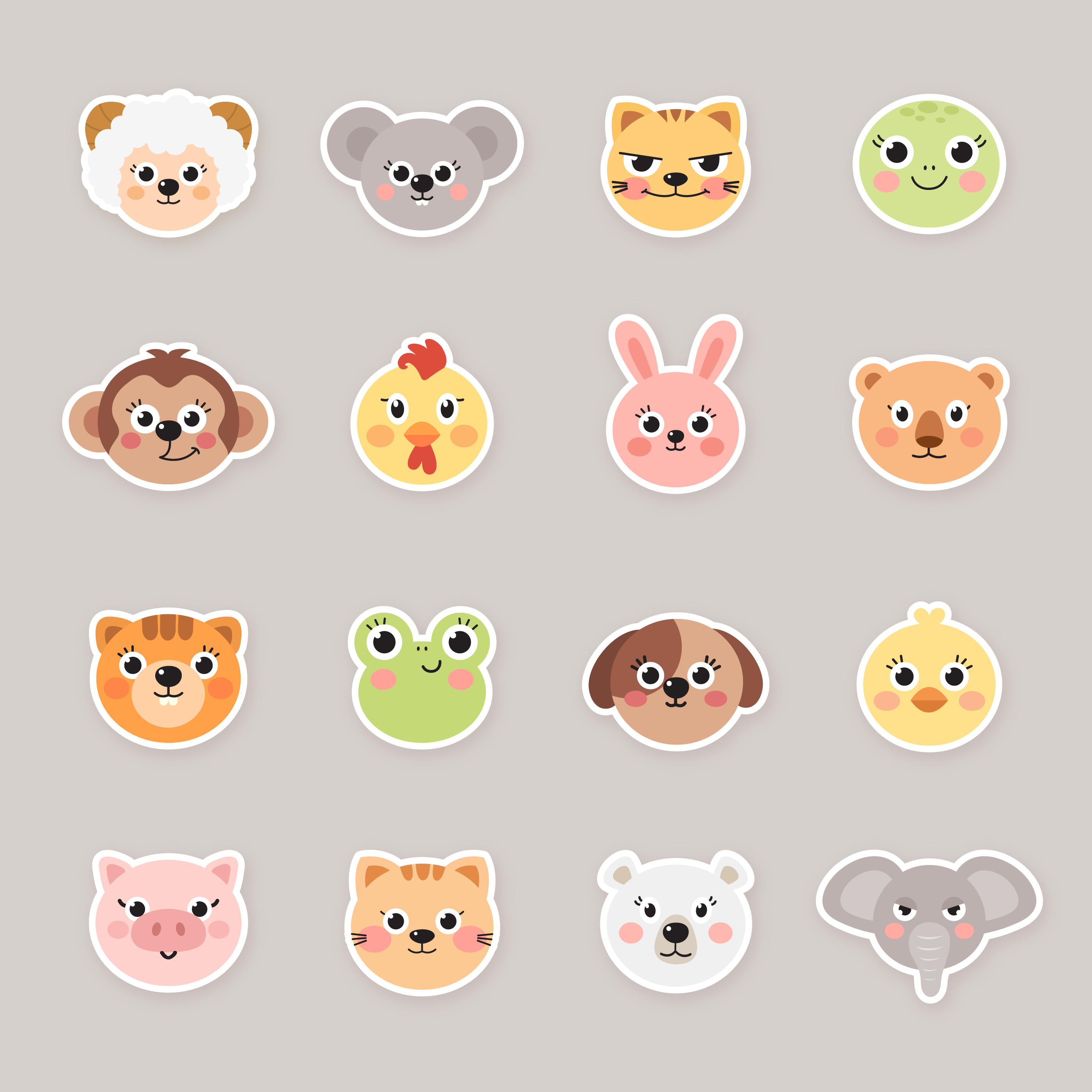 20+ Free Clipart Images Cartoon Animals