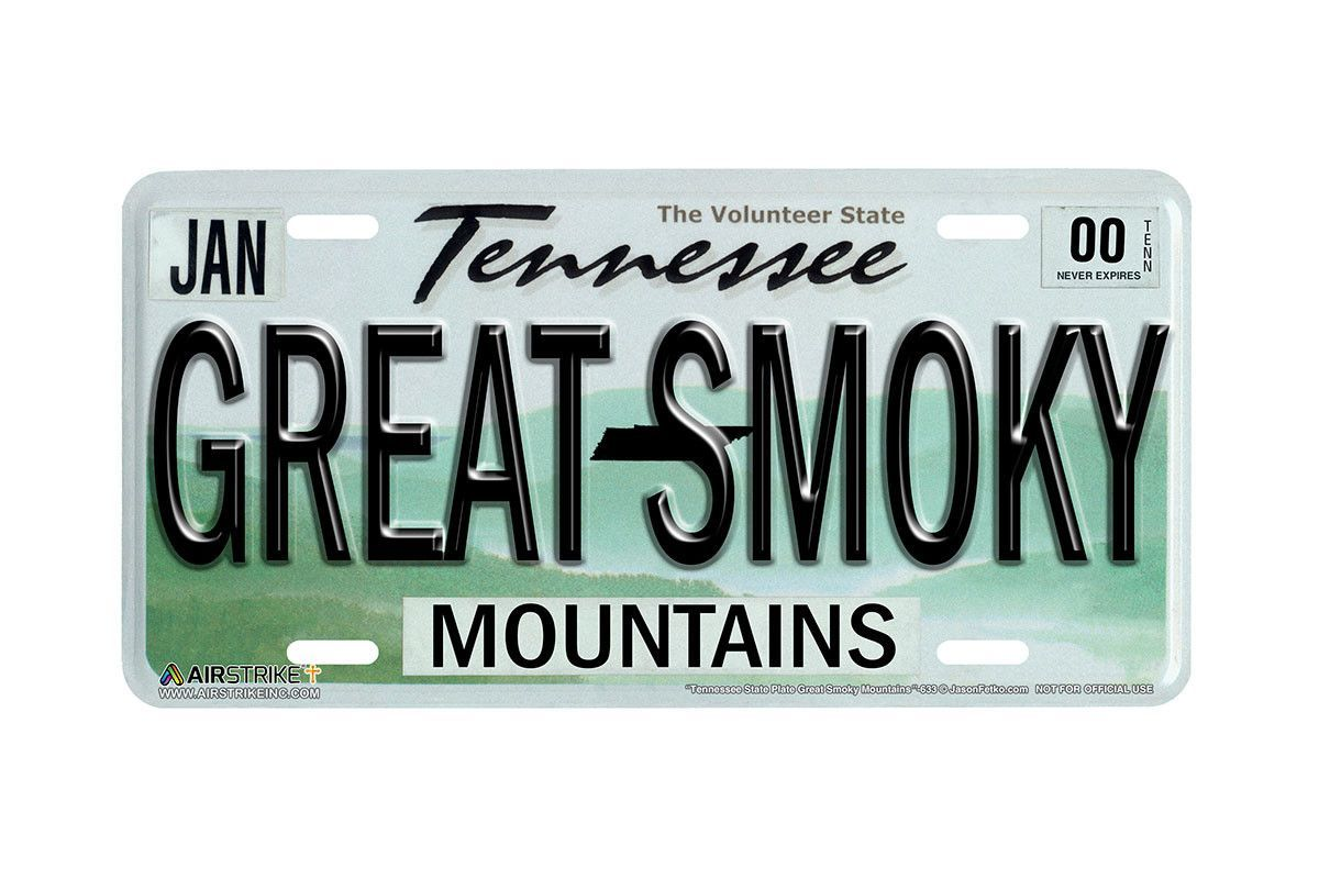 "633-""Tennessee State License Plate Great Smoky Mountains""-Vanity ..."
