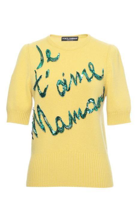 Je T'Aime Maman Sweater | Dolce & Gabbana | Fall 2015