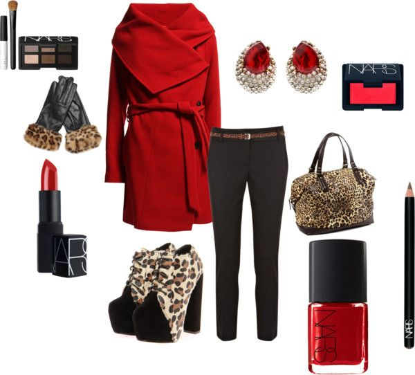 """""""Its a Cheetah winter"""" by kporsenna ❤ liked on Polyvore"""