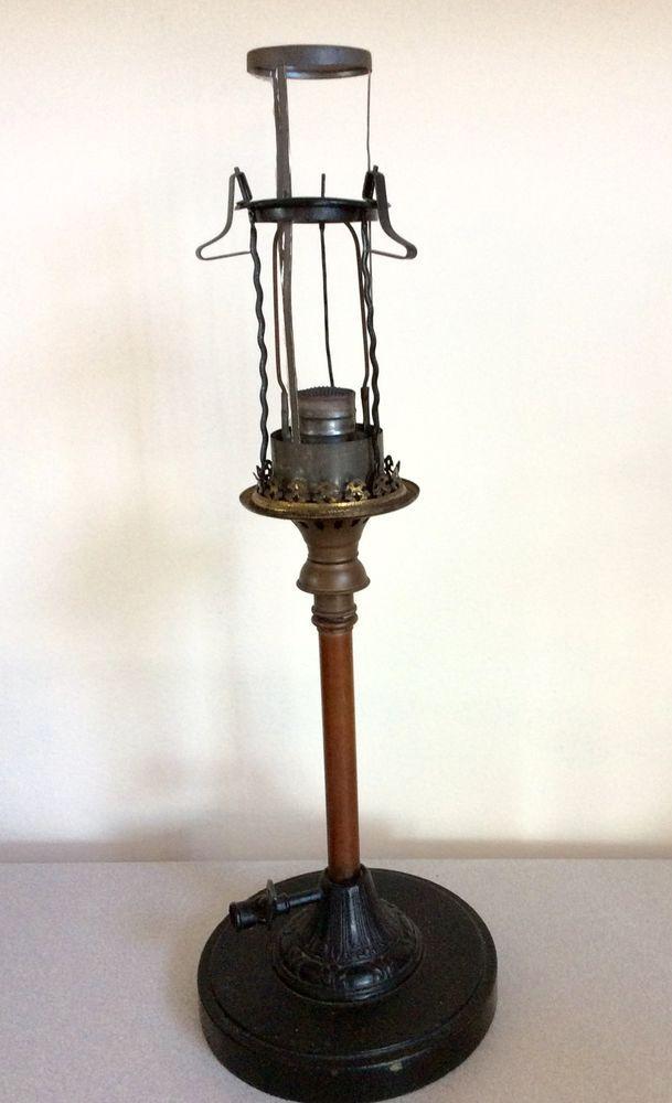 Antique Em Co Edward Miller Co Welsbach Gas Lamp Light Rarely Seen Lamp Light Gas Lamp Gas Lights