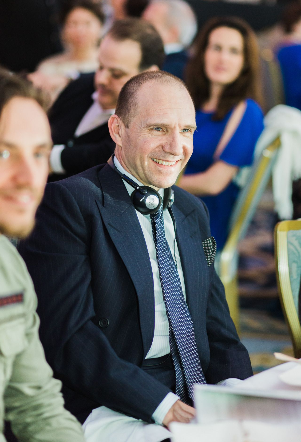 Ralph Fiennes attending the Russia old new year charity