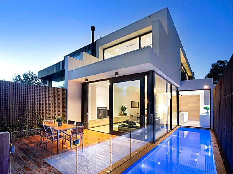 like the lap pool | Duplex house design, Pool houses ...