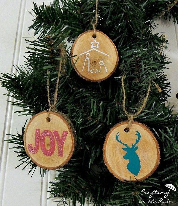 DIY Wood Slice Ornaments Diy wood, Ornament and DIY Christmas - polish christmas decorations