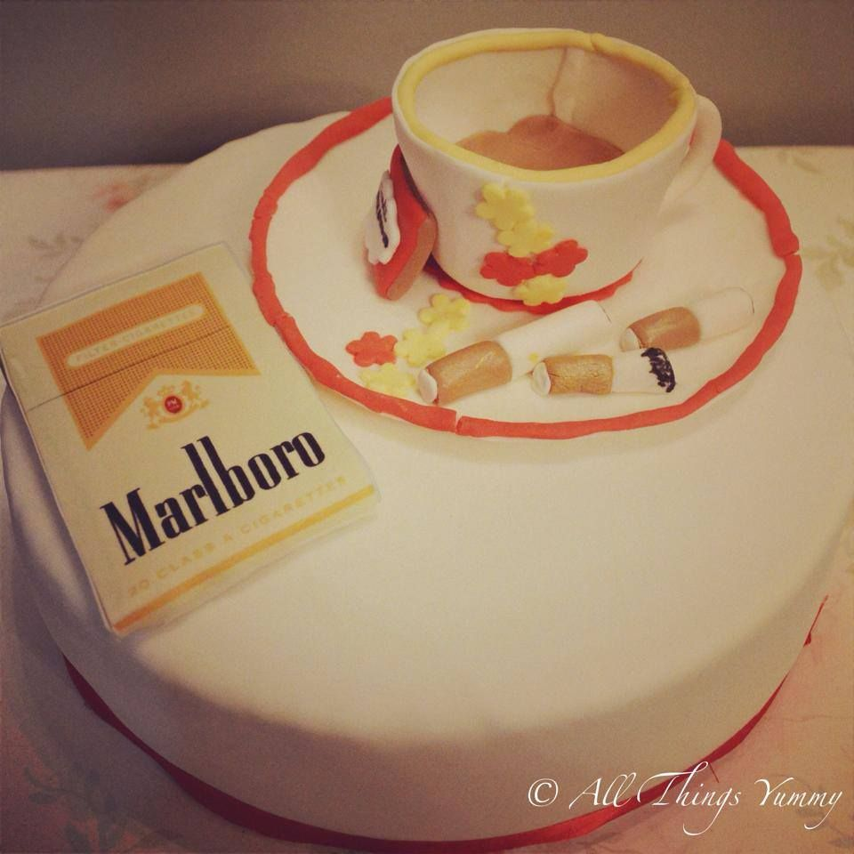 Themed Cakes - Coffee and Cigarettes Themed Cake | All ...