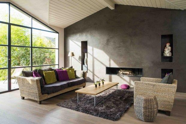 Le béton ciré décoratif auto-lissant et taloché Gray color, Salons