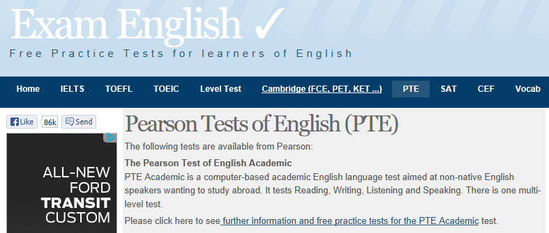 Practice listening, speaking and reading tests for Pearson | PET