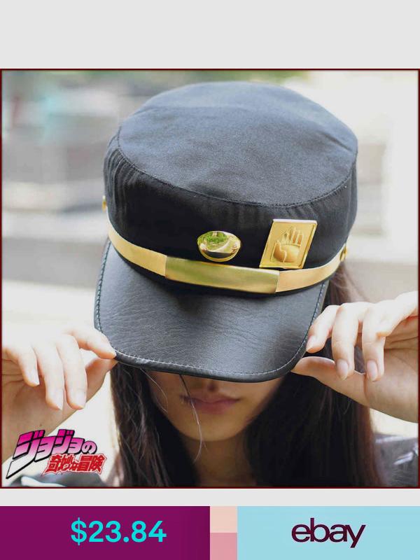 Anime Visor Cap Jojo Bizarre Adventure Jotaro Kujou Cosplay Army Military Hat Jojos Bizarre Adventure Jotaro Jojo Bizarre Jojo S Bizarre Adventure