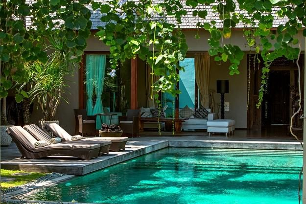 Home design bali house with natural design and swimming for Pool garden house
