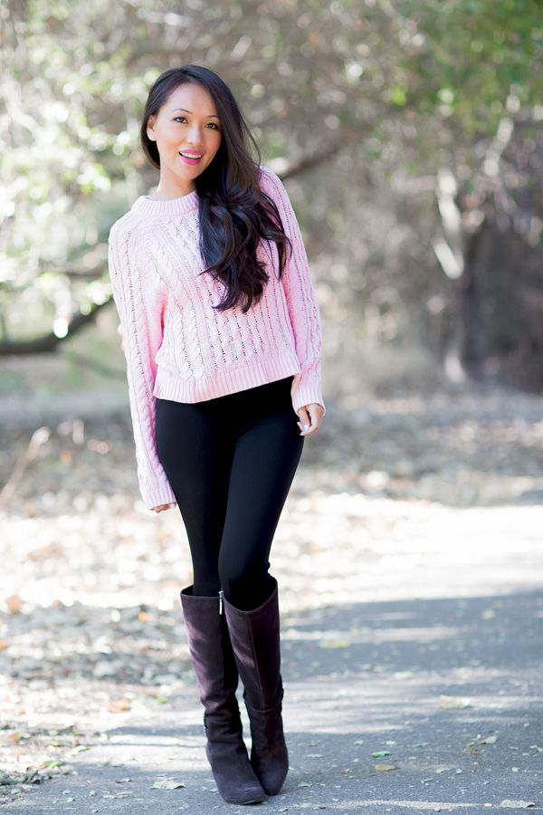 petite fashion, fashion blog, fall outfits, black leggings ...