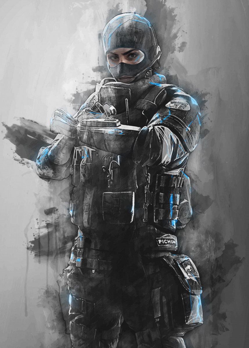 Twitch Rainbow Six Military Poster Print Metal Posters Rainbow