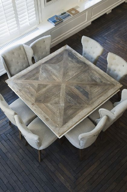 Chateau Belvedere Dining Table M A I S O N H A R T L E Y Square Dining Tables Square Dining Room Table Traditional Dining Tables
