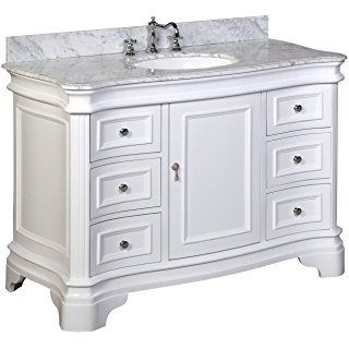 Kitchen Bath Collection Kbc A48wtcarr Katherine Bathroom Vanity With Marble Countertop 48 Inch Bathroom Vanity Single Bathroom Vanity 72 Inch Bathroom Vanity