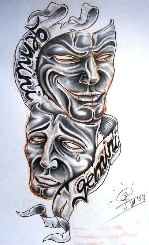 Live now die later   Gemini tattoo, Tattoo drawings ...